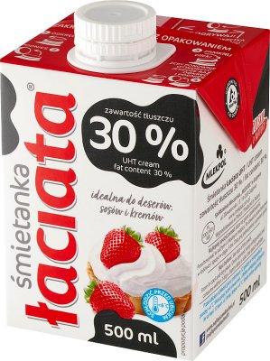 Łaciata śmietanka do deserów 30% tłuszczu
