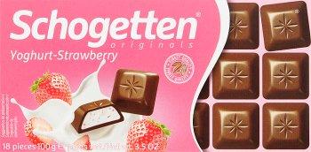 chocolat - yaourt aux fraises