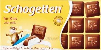 Schogetten nadziewana czekolada pełnomleczna z nadzieniem mlecznym Dla dzieci