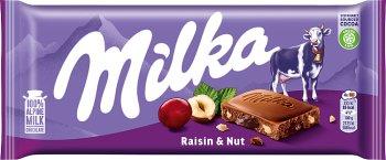 Milka czekolada  Z orzechami i rodzynkami