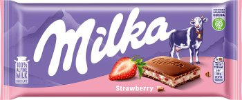 Milka czekolada  Truskawkowo - jogurtowa