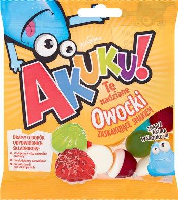 Aha gelatinas con frutas llenado Owocki