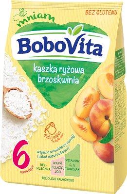BoboVita kaszka ryżowa brzoskwinia