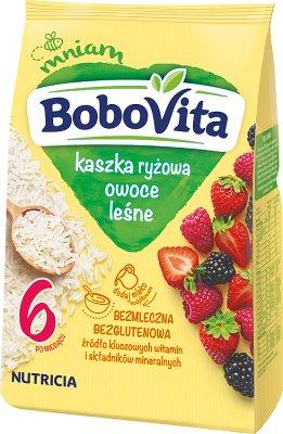 BoboVita kaszka ryżowa z owocami leśnymi