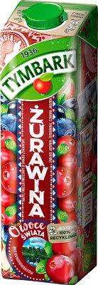 Tymbark Owoce Świata napój żurawina z czarną jagodą i jabłkiem
