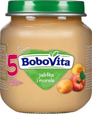BoboVita deser jabłka i łagodne morele z winogronami