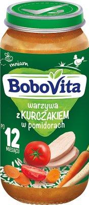 BoboVita obiadek warzywa z kurczakiem w pomidorach