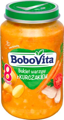 BoboVita obiadek bukiet warzyw ze złotym kurczakiem