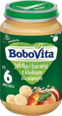 BoboVita deserek  jabłka i banany z kleikiem owsianym