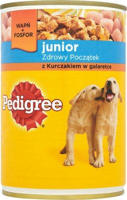 Pedigree Junior jedzenie dla szczeniąt, puszka  z kurczakiem w delikatnej galaretce