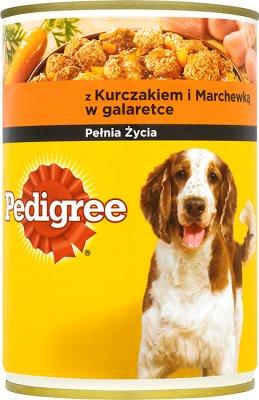 Pedigree jedzenie dla psów dorosłych, puszka  z kurczakiem i marchewką w delikatnej galaretce