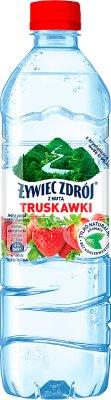 eau de source thermale arôme de saveur gorgée Encore fraise