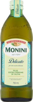 Monini Delicato oliwa z oliwek z pierwszego tłoczenia na zimno (Extra Vergine)