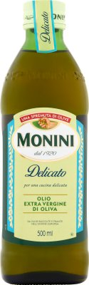 delicato olive oil from the first cold pressing (extra virgin ), with a light and mild taste