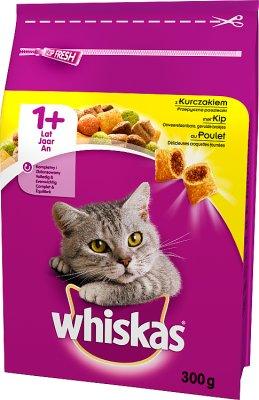 Whiskas Adult - sucha karma dla dorosłych kotów - worek  z kurczakiem, warzywami i mięsnymi pasztecikami