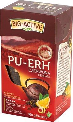 Big-Active Pu-Erh herbata czerwona liściasta o smaku cytrynowym