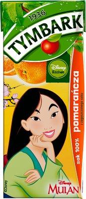 100% jus , carton 200ml avec une paille d'orange