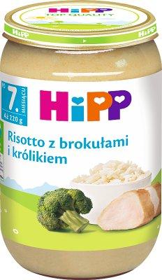 risotto avec du brocoli et le lapin