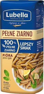 Lubella makaron Pióra (penne rigate) 100% Pełne Ziarno
