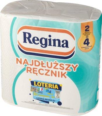 Regina Najdłuższa Rolka 2=4 białe ręczniki papierowe