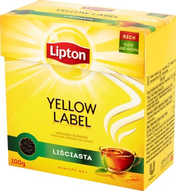 Lipton Yellow Label herbata czarna, liściasta