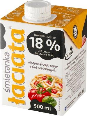 Łaciata śmietanka do zup i sosów 18% tłuszczu