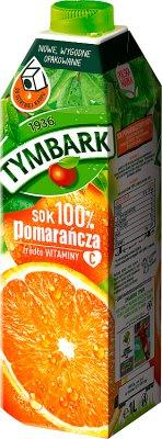 Tymbark czysty sok 100% pomarańczowy