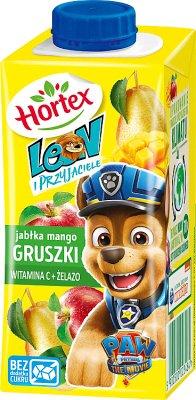 Leon (Hortex) napój dla dzieci, w kartoniku ze słomką jabłka, mango, gruszki