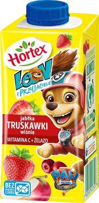Leon (Hortex) napój dla dzieci, w kartoniku ze słomką jabłka, wiśnie, poziomki