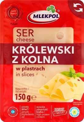 Mlekpol Królewski z Kolna ser żółty pakowany hermetycznie