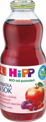 HiPP Herbatka z dzikiej róży z sokiem z czerwonych owoców BIO