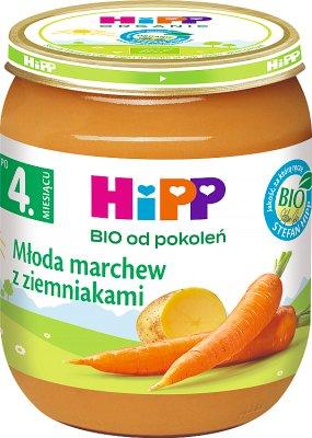 Jeunes carottes , pommes de terre bio
