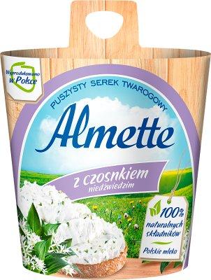 , Almette fromage crémeux de l'ail à larges feuilles