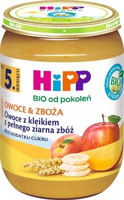 HiPP Owoce & Zboża  z kleikiem z pełnego ziarna zbóż