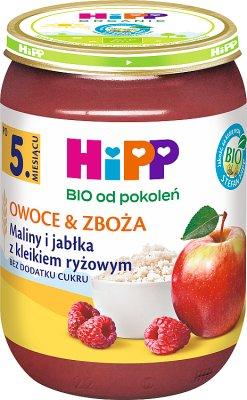 HiPP Maliny i jabłka z kleikiem ryżowym BIO