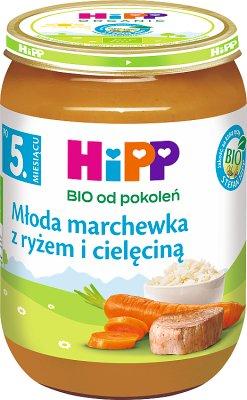 HiPP Krem z marchwi i ryżu z cielęciną BIO