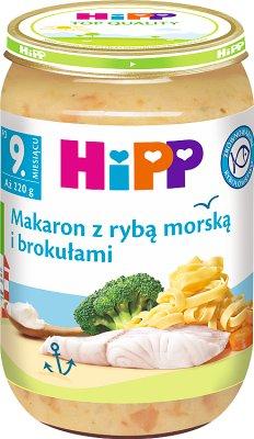 Hipp makaron z rybą morską i brokułami