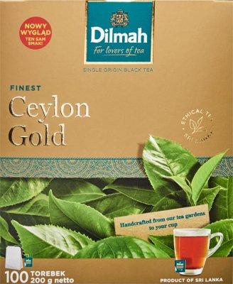 Dilmah Ceylon Gold herbata czarna ekspresowa w torebkach po 2g