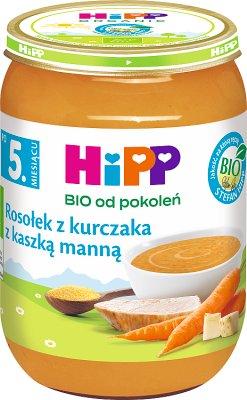HiPP zupka Rosołek z kurczaka z kaszką manną BIO