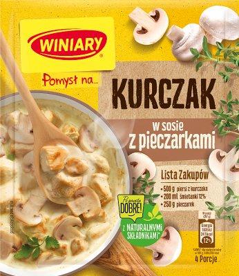 Winiary sos w proszku Pomysł na... kurczaka z pieczarkami
