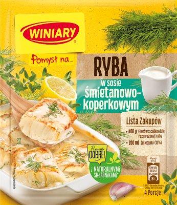 Winiary sos w proszku Pomysł na... rybę w sosie śmietanowo - koperkowym