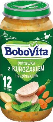 BoboVita obiadek potrawka z kurczakiem i szpinakiem