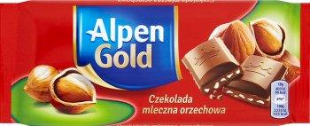Alpen Gold czekolada  mleczna z orzechami laskowymi