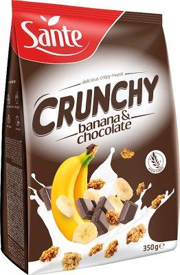 Sante cereales muesli crujiente de chocolate con plátano