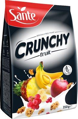 хрустящие мюсли овсяные хлопья, фрукты 350 г