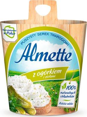 , Almette cremige Käse mit Gurken und Kräuter