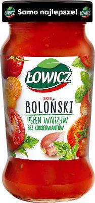 Łowicz sos gotowy, słoik boloński