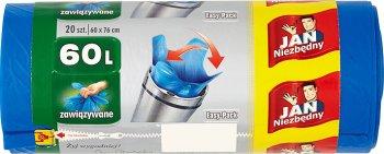 Jan Niezbędny easy-pack worki na śmieci łatwe do zawiązywania 60 litrów