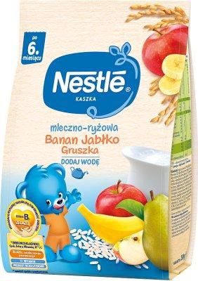 Nestle kaszka mleczno-ryżowa banan - jabłko - gruszka