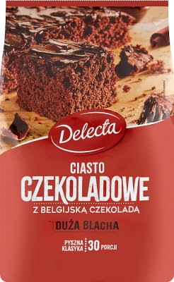 Delecta Duża Blacha ciasto o smaku czekoladowym